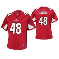 Women Arizona Cardinals #48 Derrick Coleman Cardinal Pro Line Player Jersey