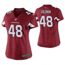 Women Arizona Cardinals #48 Derrick Coleman Cardinal Game Jersey