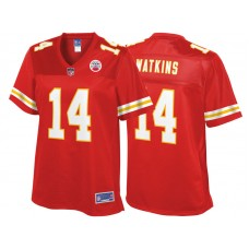 Women's Kansas City Chiefs #14 Sammy Watkins Red Pro Line Team Color Jersey