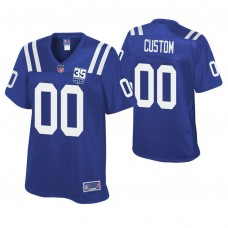 Women's Indianapolis Colts Royal 35th Anniversary Game Customized Jersey