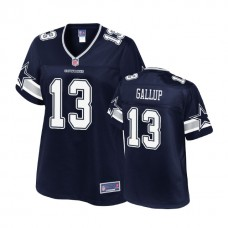 Women's Dallas Cowboys #13 Michael Gallup Navy 2018 Draft Player Jersey