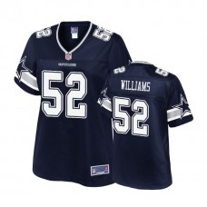 Women's Dallas Cowboys #52 Connor Williams Navy 2018 Draft Player Jersey