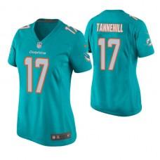 Women's Miami Dolphins #17 Ryan Tannehill Aqua Game Jersey