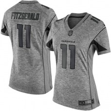 Women's Atlanta Falcons #11 Julio Jones Gridiron Gray Limited Jersey