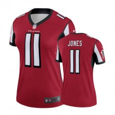 Women's Atlanta Falcons #11 Julio Jones Red Legend Jersey