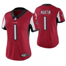 Women's Atlanta Falcons #1 David Martin Red Game Jersey