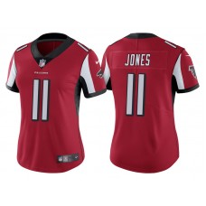 Women's Atlanta Falcons #11 Julio Jones Red Vapor Untouchable Limited Jersey