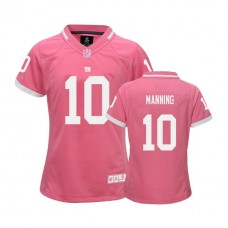 Women's New York Giants #10 Eli Manning Pink Bubble Gum Jersey