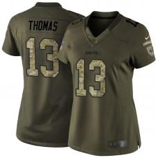 Women's New Orleans Saints #13 Michael Thomas Green Salute To Service Jersey
