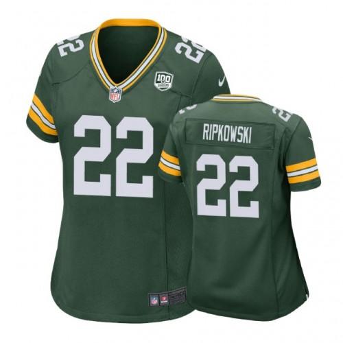 Women Green Bay Packers #22 Aaron Ripkowski 100th Anniversary Game ...