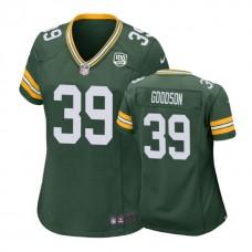 Women Green Bay Packers #39 Demetri Goodson 100th Anniversary Game Green Jersey