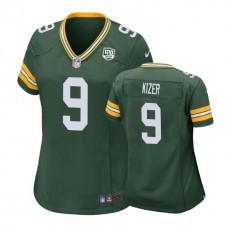Women Green Bay Packers #9 DeShone Kizer 100th Anniversary Game Green Jersey
