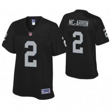 Women's Oakland Raiders #2 AJ McCarron Black Player Pro line Jersey