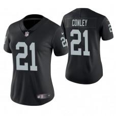 Women's Oakland Raiders #21 Gareon Conley Black Game Jersey