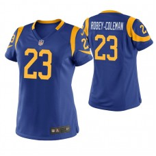 Women's Los Angeles Rams #23 Nickell Robey-Coleman Royal Game Jersey