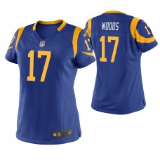 Women's Los Angeles Rams #17 Robert Woods Royal Game Jersey