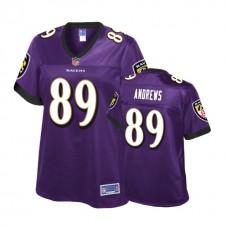 Women's Baltimore Ravens #89 Mark Andrews Purple 2018 Draft Player Jersey