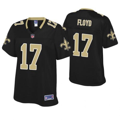 Women's New Orleans Saints #17 Michael Floyd Black Pro Line Player Jersey