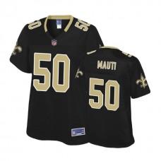 Women's New Orleans Saints #50 Michael Mauti Black Pro Line Player Jersey
