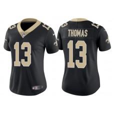 Women's New Orleans Saints #13 Michael Thomas Black Vapor Untouchable Limited Jersey