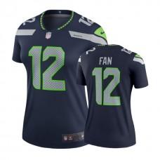 Women's Seattle Seahawks #12 Fan College Navy Legend Jersey