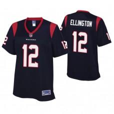 Women's Houston Texans #12 Bruce Ellington Navy Player Jersey