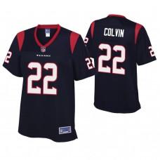 Women's Houston Texans #22 Aaron Colvin Navy Player Jersey