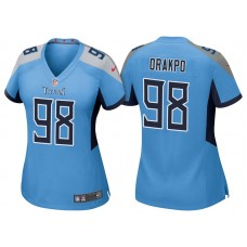Women's Tennessee Titans #98 Brian Orakpo Light Blue 2018 Game Jersey