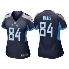 Women's Tennessee Titans #84 Corey Davis Navy 2018 Game Jersey