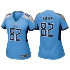 Women's Tennessee Titans #82 Delanie Walker Light Blue 2018 Game Jersey