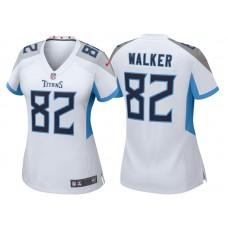 Women's Tennessee Titans #82 Delanie Walker White 2018 Game Jersey
