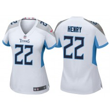 Women's Tennessee Titans #22 Derrick Henry White 2018 Game Jersey