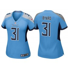 Women's Tennessee Titans #31 Kevin Byard Light Blue 2018 Game Jersey