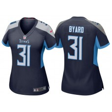 Women's Tennessee Titans #31 Kevin Byard Navy 2018 Game Jersey