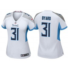 Women's Tennessee Titans #31 Kevin Byard White 2018 Game Jersey