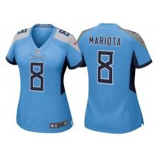 Women's Tennessee Titans #8 Marcus Mariota Light Blue 2018 Game Jersey
