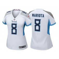 Women's Tennessee Titans #8 Marcus Mariota White 2018 Game Jersey