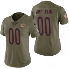 Women's Chicago Bears Olive 2017 Salute to Service Limited Customized Jersey