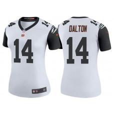 Women's Cincinnati Bengals #14 Andy Dalton White Color Rush Legend Jersey
