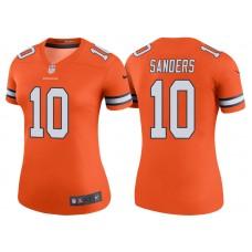 Women's Denver Broncos #10 Emmanuel Sanders Orange Color Rush Legend Jersey