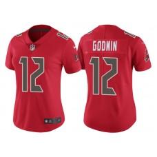 Women's Tampa Bay Buccaneers #12 Chris Godwin Red Color Rush Legend Jersey