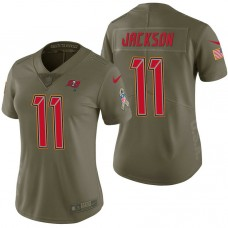 Women's Tampa Bay Buccaneers #11 DeSean Jackson Olive 2017 Salute to Service Limited Jersey