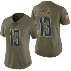 Women's Los Angeles Chargers #13 Keenan Allen Olive 2017 Salute to Service Limited Jersey