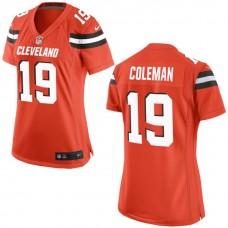 Women's Cleveland Browns #19 Corey Coleman Orange Game Jersey