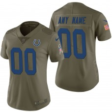 Women's Indianapolis Colts Olive 2017 Salute to Service Limited Customized Jersey