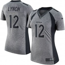Women's Denver Broncos #12 Paxton Lynch Gray Gridiron Limited Jersey