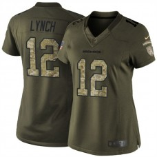 Women's Denver Broncos #12 Paxton Lynch Green Salute To Service Limited Jersey