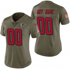 Women's Atlanta Falcons Olive 2017 Salute to Service Limited Customized Jersey