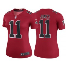 Women's Atlanta Falcons #11 Julio Jones Red Color Rush Legend Jersey