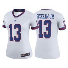 Women's New York Giants #13 Odell Beckham Jr White Color Rush Legend Jersey